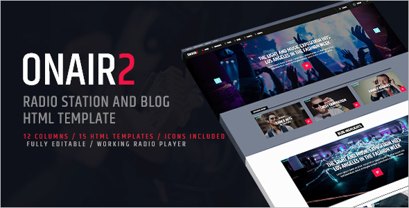 Music Radio station Website Template