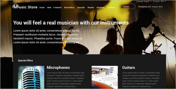 Music Shop OsCommerce Template
