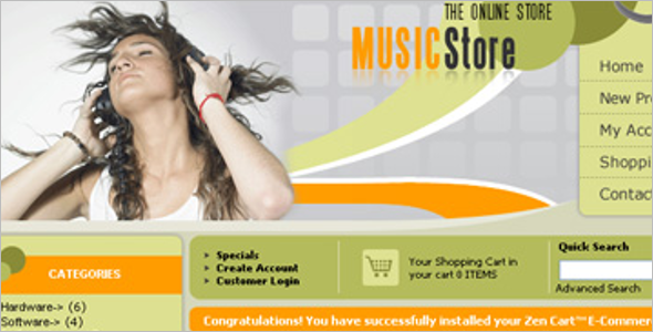 Music Shop Zen Cart Template