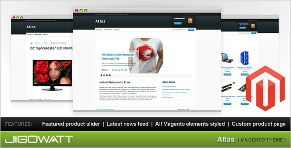 News Portal Shopping Magento Theme