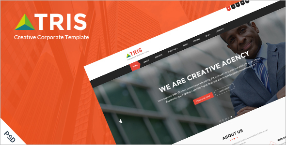 One Page Business Website Template