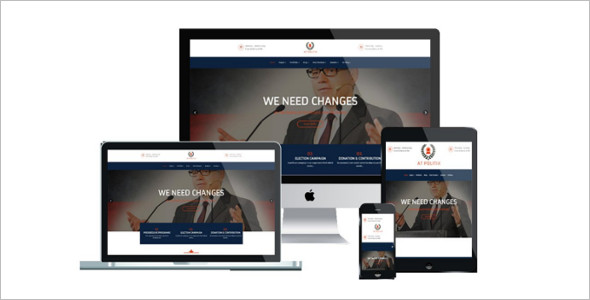 One Page Political Joomla Template