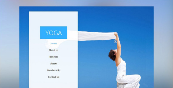 One Pgae Yoga Website Theme
