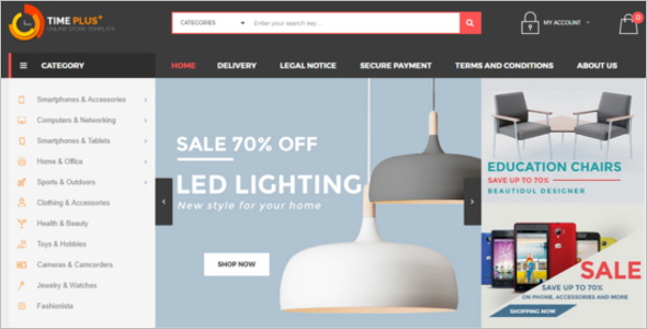 Online Furniture Store Prestashop Template