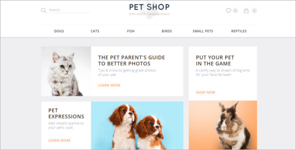 OpenCart Pet's Template