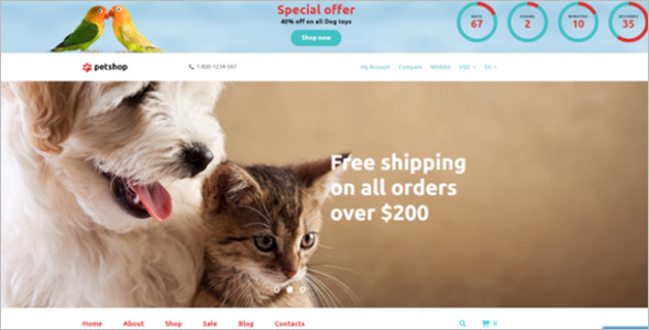 OpenCart ResponsivePet Store Template