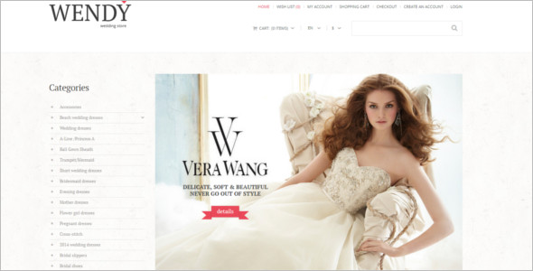 OpenCart Wedding Store Theme