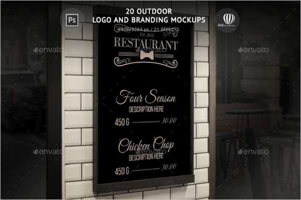 Outdoor Branding Mockup Design