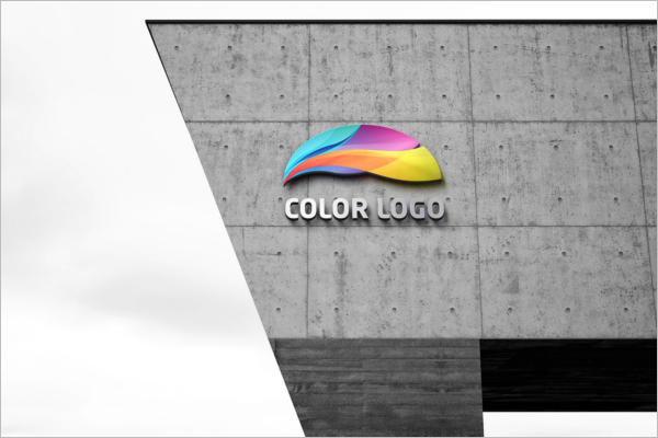 Sample Theme 32 Photorealistic 3d Wall Logo Mockup Templates