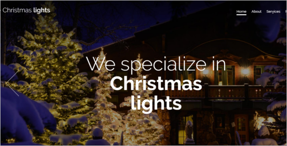 Parallax Christmas Website Template