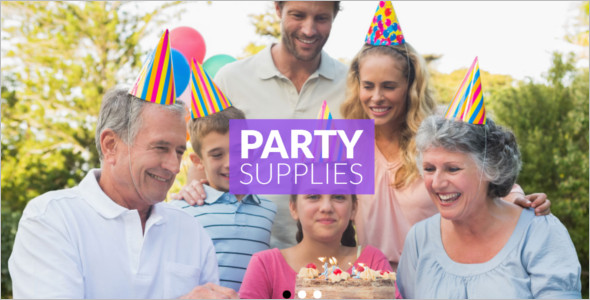 Party Items Website Template