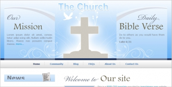 Personal Church Website Theme