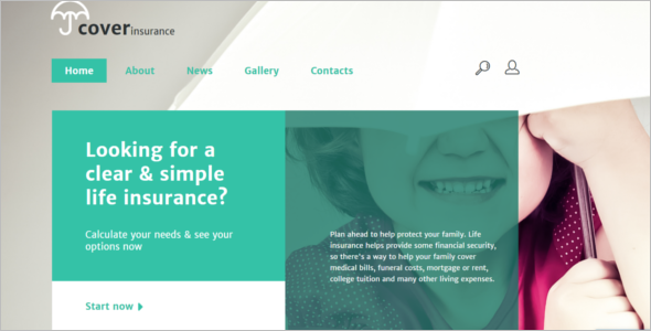 Personal Insurance Website Template