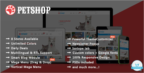 Pet Animal Prestashop Template