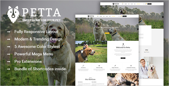 Pet Care VirtueMart Template