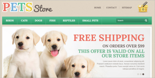 Pet Prestashop Template Model