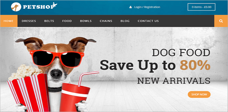 Pet Shop WordPress Themes