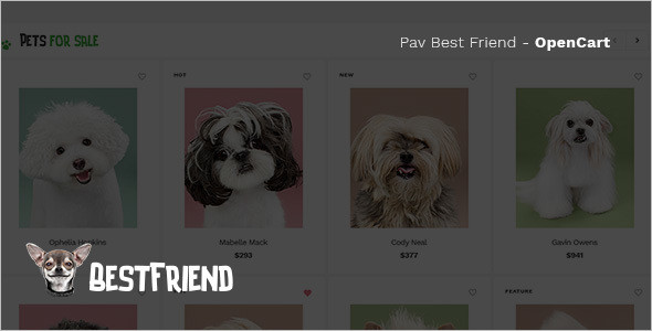 Pet Store OpenCart Template