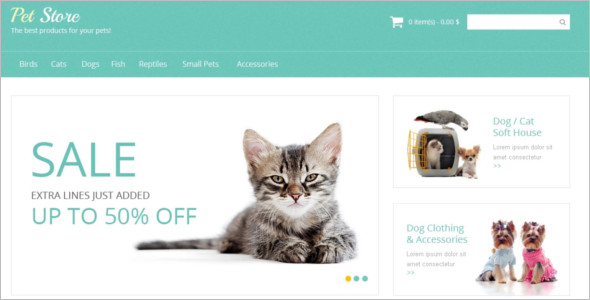Pet Supplies Magento Template