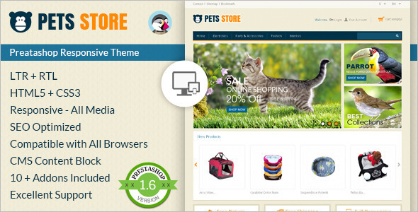 Pet care Prestashop Template