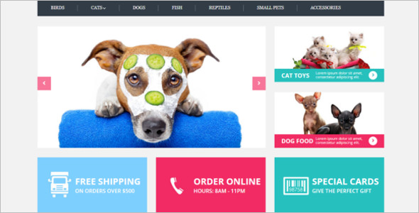 Pets Care OpenCart Template