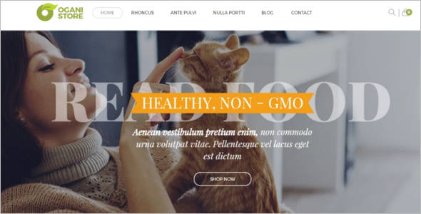 Pet's Food Store OpenCart Template