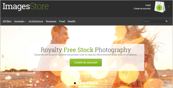 Photo Stock OpenCart Template