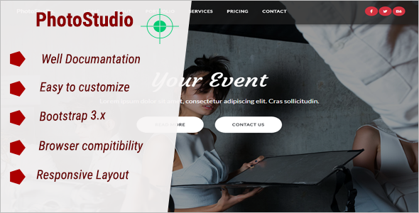 PhotoStudio Website Template