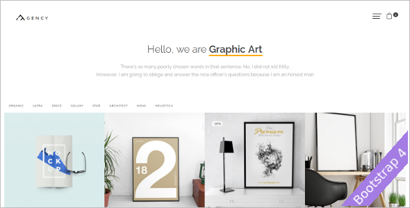 Photography Agency OpenCart Template