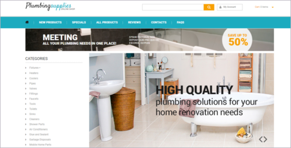 Plumbing Business Zen Cart Theme