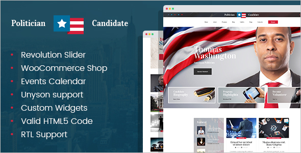 Political Candidate Website Theme