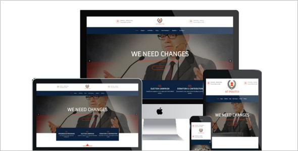 Political Joomla Website Template