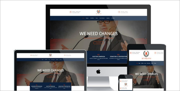 Political One Page Website Theme