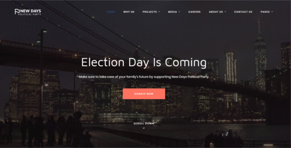 Political Party Website Template