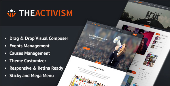 Political Website Design Theme