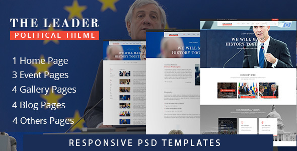 Political Website PSD Theme