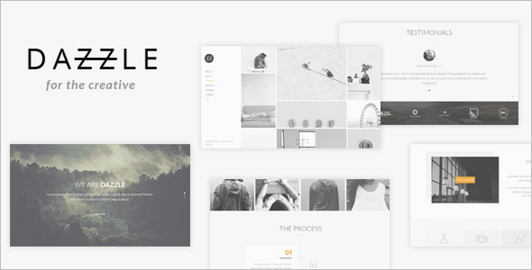 Portfolio Single page Website Theme