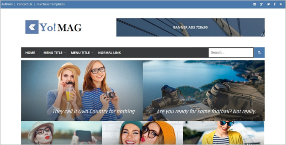 Premium Adsense Friendly Blog Template