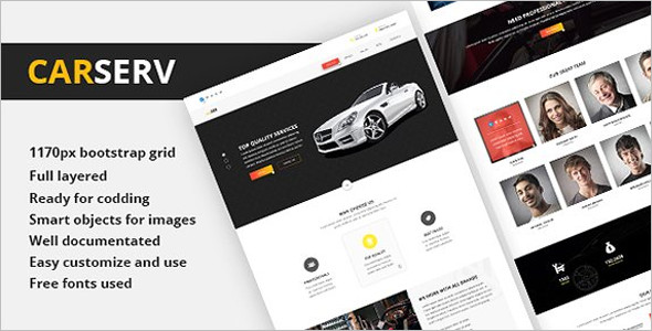 Premium Automobile Website Template