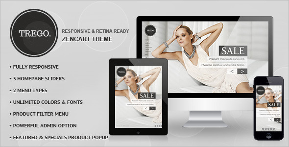 Premium Mobile Friendly ZenCart Template