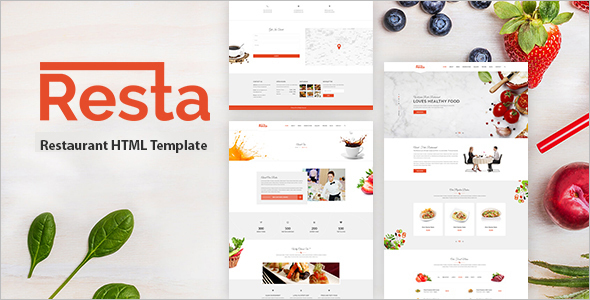 Premium Restaurant Blogger Template