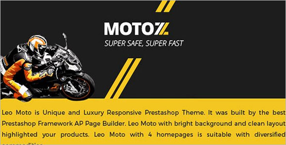 PrestaShop 1.6 Motorcycle Theme