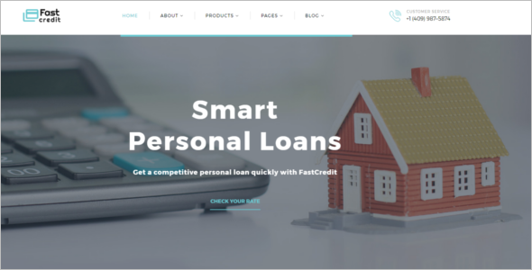 Property Loan Website Template