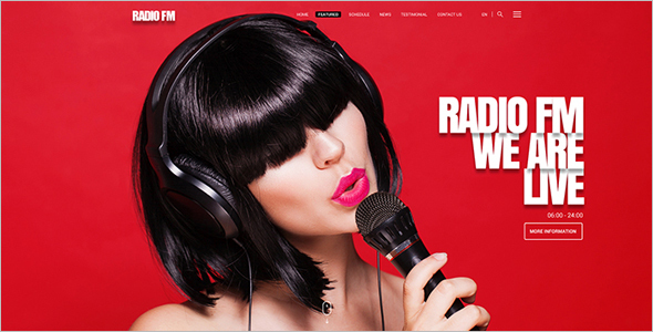 Radio station Website HTML Template