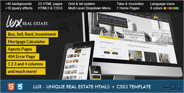 Real Estate  Mortgage Website Template