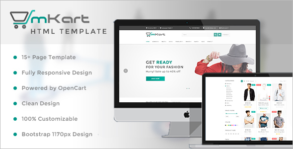 Reservation OpenCart HTML Template
