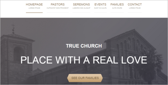 Responsive Church Website Theme