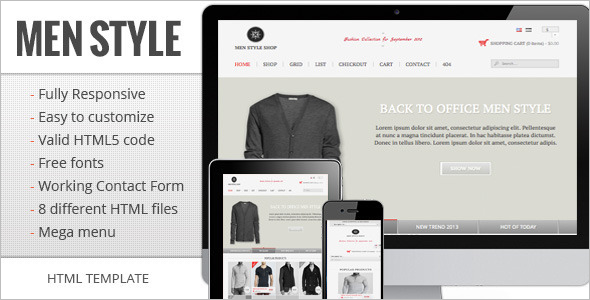 Responsive E-commerce Template