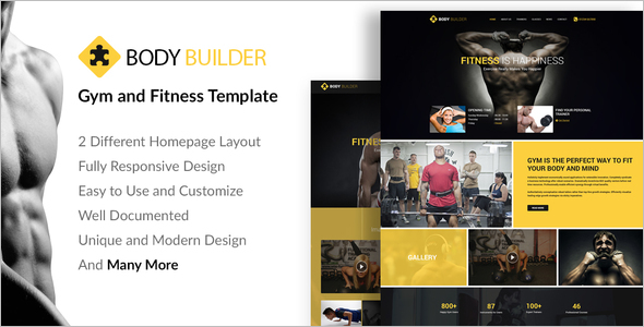 Responsive Fitness Website Template
