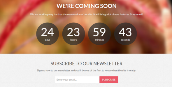 Responsive Free Coming Soon Template